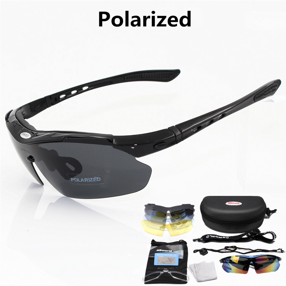 Professional Polarized Cycling Glasses Bike Goggles Outdoor Sports Bicycle Sunglasses UV 400 With 5 Lens TR90