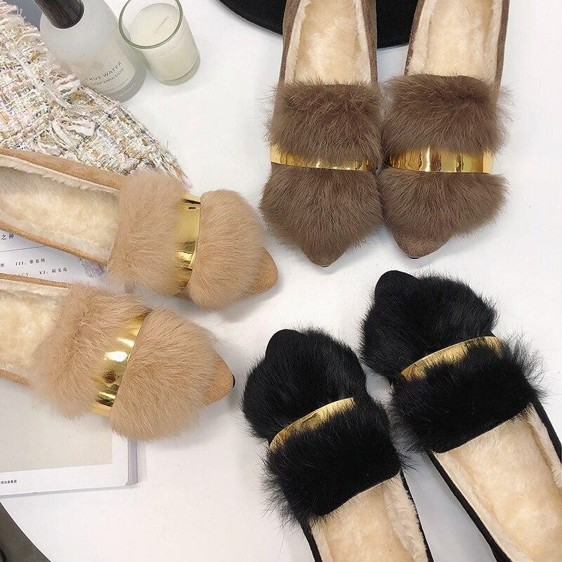 En b Simples Chaud La Chaussures Femmes De Hiver Homme A Version Plates Velours c Coton f Plus À Coréenne g Pour Garder Point Au d Sauvage TqP1HwIP