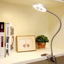 цена на USB charger LED Clip Table Light SMD3528 Desk Lamp  Flexible Portable kids light 5W LED Light table Cold/Warm Light