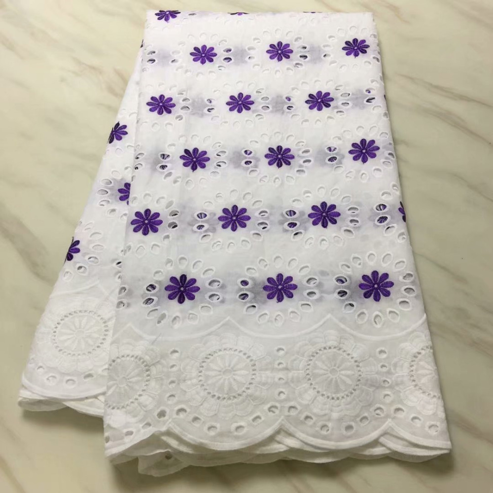 Cheap White Soft Hollow Out Swiss Voile Lace In Switzerland African Lace Fabric High Quality African