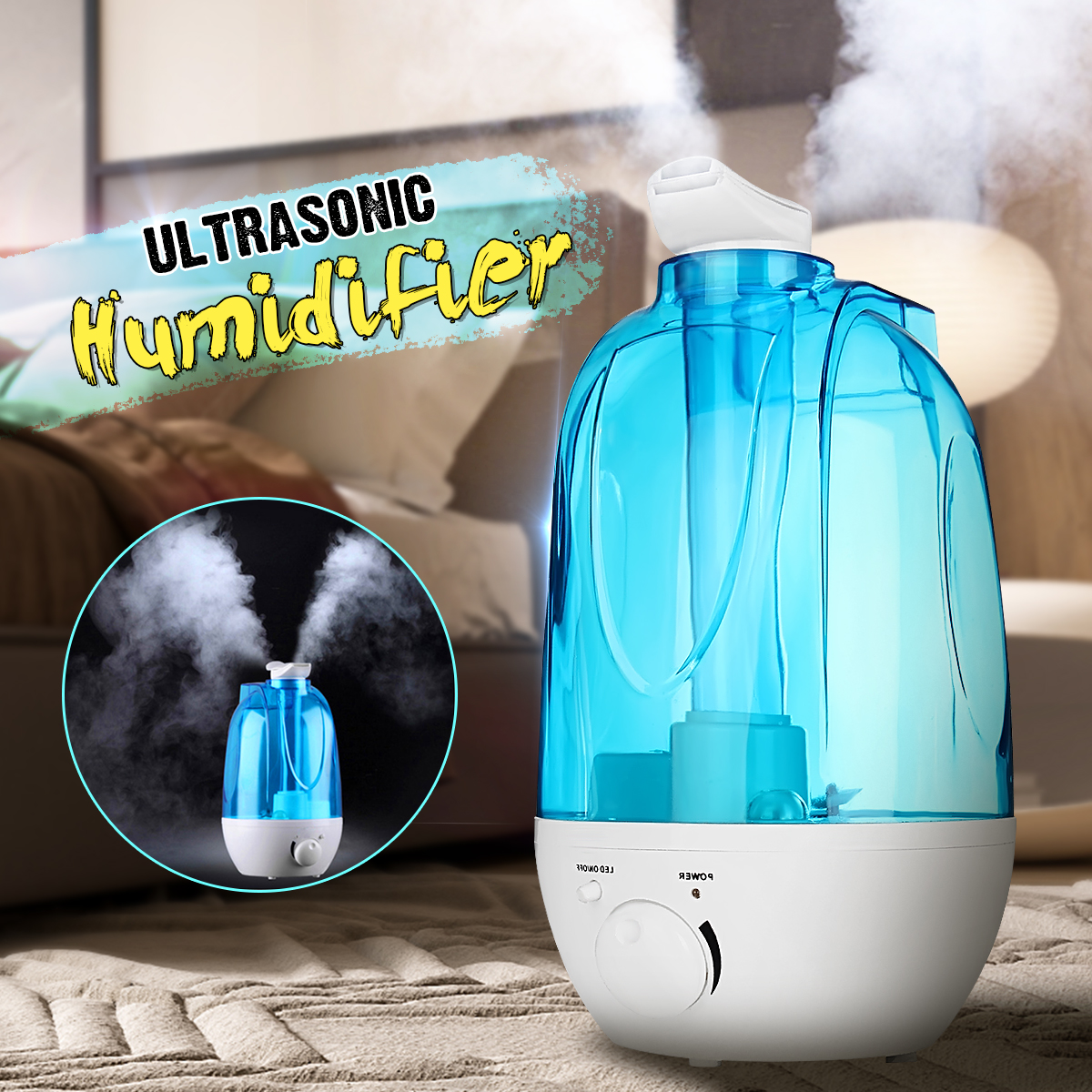 4L Aroma Ultrasonic Humidifier Essent Oil Diffuse 25W 110-240V LED Light Humidifier Aromatherapy Air Diffuser Mist Maker Fogger цена