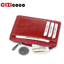 Multifunction Fashion Women Men Genuine Leather Purse Clutch Wallet Simple Card Holder Bag ID Credit Card Coin Holder