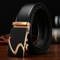 TG Genuine Leather Black Strap S Automatic Buckle Men S Belt Real Leather Cowskin Belts
