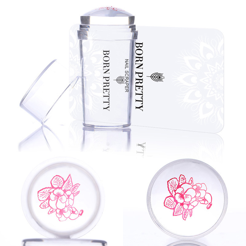 Nail Art Generous 2019 Hot Magic Start Flower Water Nail Art Templates Pure Clear Jelly Silicone Nail Stamping Plate Scraper Cap Transparent Nail