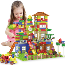 New Scene Building Blocks Toys For children educational Gift  DIY Big Size Educational Bricks Compatible with City Sets