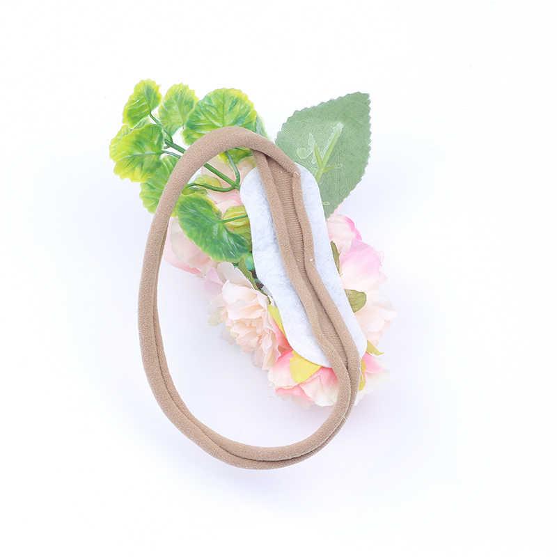 Headband ทารกแรกเกิดอีสเตอร์ Headband มงกุฎดอกไม้ไนลอน Headband อุปกรณ์เสริมผมเด็ก Photo PROP หญิงดอกไม้ hairband