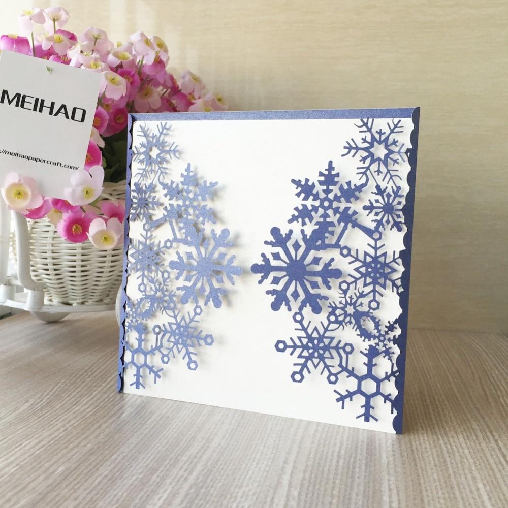 30pcs Laser cut snow design free printable Wedding Card Design ...