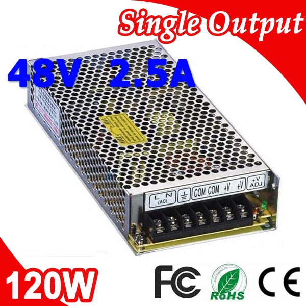 S-120-48 120W Mean well LED Switching Power Supply 48V 2.5A Transformer from 110V 220V AC to DC Output ms 120 15 120w mean well led 15v power supply 8a transformer 110v 220v ac to dc output