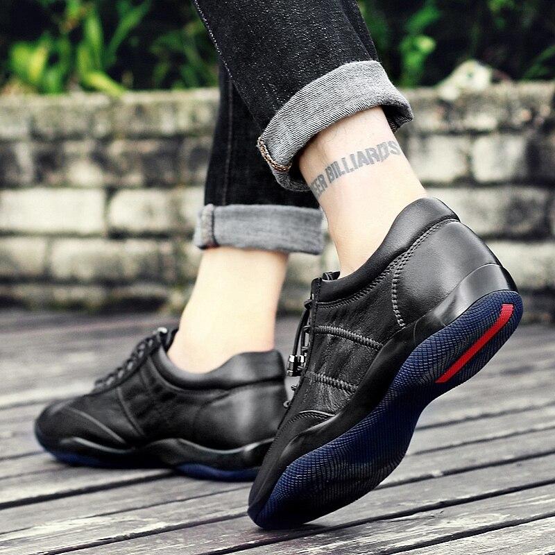 2018 Zapatillas Zapatos Transpirable Para De Genuino verano Hombre Los Casual Hombres Negro Primavera Cuero Northmarch Diseño Moda Ultraligero pxzaddHq