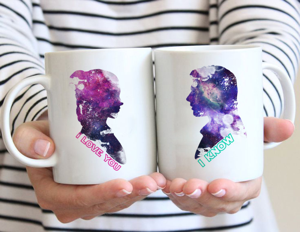 Han Solo and Leia star wars mugs Tea milk wine beer friend gifts novelty Anniversary