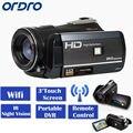 "Ordro hdv-d395 full hd 1080 p 18x3.0 ""touch screen digital video camera recorder frete grátis"