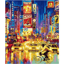 WEEN Night Street-Paint by Number Kits for Adults,DIY Painting Numbers on Canvas ,Home decor,Acrylic Paint 16x20inch