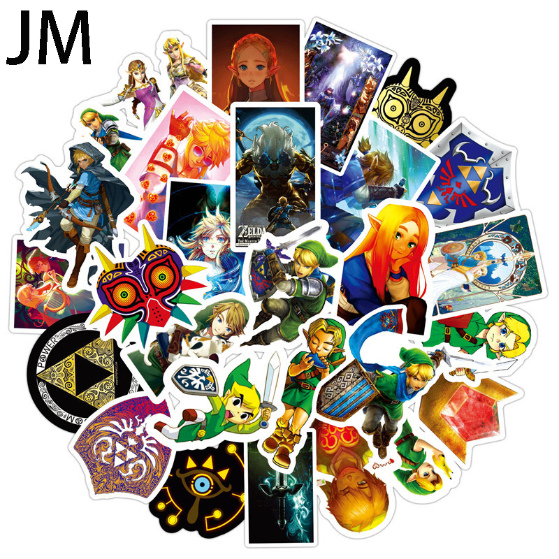 50Pcs Legend Of Zelda Anime Icon Animal Cute Decals Guitar Fridge Bicycle  Stickers Gifts For Children To Laptop Suitcase