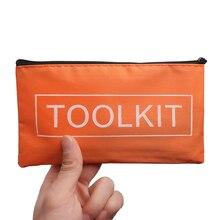 19,5*11,5 см оранжевый Оксфордский тканевый набор инструментов сумка на молнии сумка для хранения инструментов водонепроницаемый полезный набор инструментов упаковочная сумка