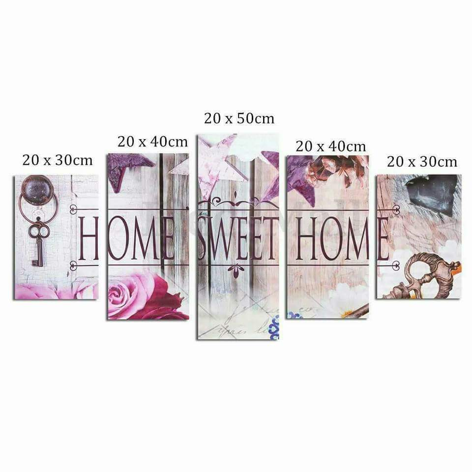 Home sweet home painting - Download Home Sweet Home 3d Diy Diamond Painting 5pcs Multi Pictures Combination Embroidery