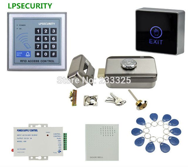 ID RFID Gate Access Control System Kit Set Electric Motorized Door Lock  With Manual Keys 10