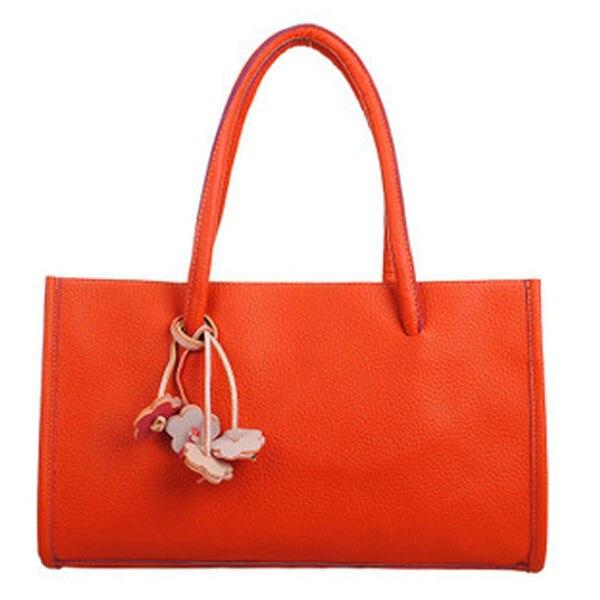 Hot Fashion girls Travel handbags leather shoulder bag candy color flowers tote Orange парфюмированная вода montale orange flowers 20 мл