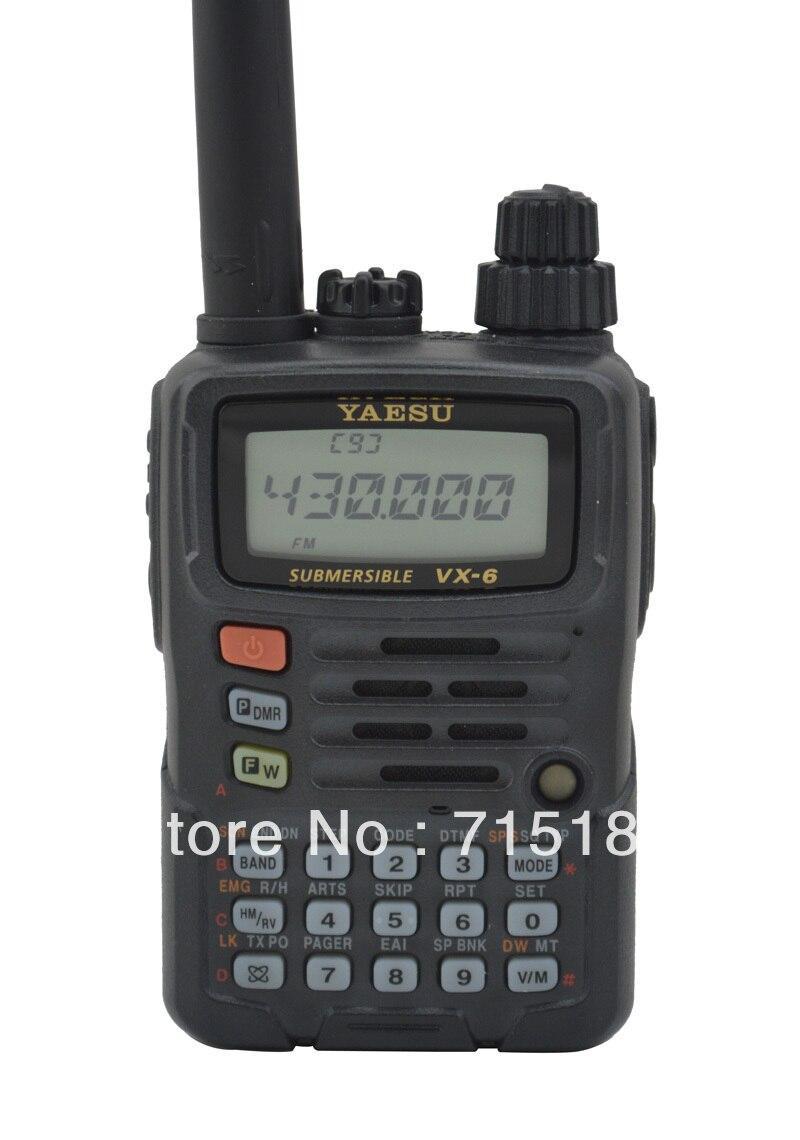 100% NEW Original 2014 New Yaesu VX-6R Portable Ham Two Way  Radio Submersible FM Transceiver Yaesu VX 6R Radio