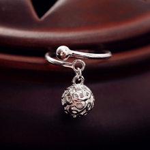 DreamySky 100% prawdziwe czyste srebro kolor piłka pusta w środku pierścienie dla kobiet oświadczenie biżuteria Ring Finger anillos mujer Bijoux