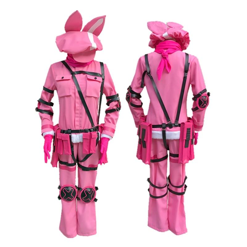 Sword Art Online Alternative GGO Cosplay Gun Gale Online Llenn Unisex Cosplay Costume with Cap Full