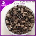 (1000pcs/bag,3.0mmx2.4mmx4.0mm) HARMONY Light Brown straight Flat end easilocks micro rings tubes non flared micro link for hair