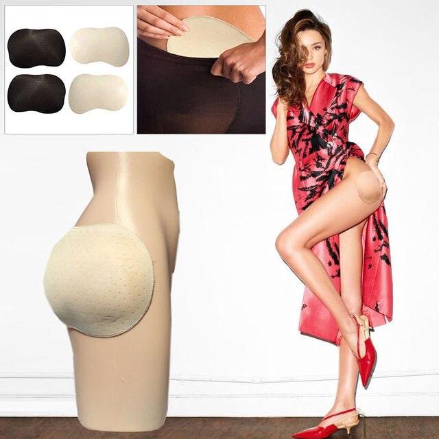 Hot Women Buttock ยกเบาะปลอมสะโพก Enhancer สวมใส่เซ็กซี่ Beige สีดำซิลิโคนสะโพกขึ้น Pads 2 ชิ้นแพ็ค