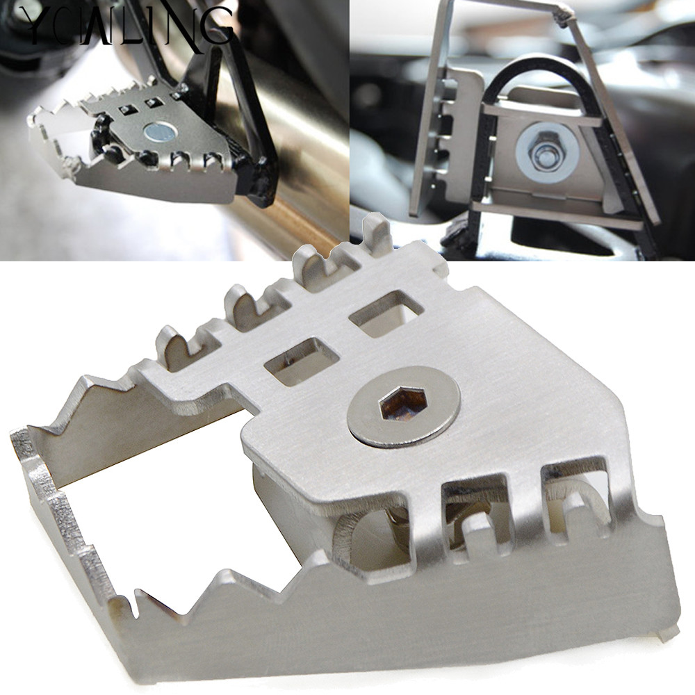 Silver Rear Foot Brake Lever Peg Pad Extension Enlarge Extender For BMW F800GS F700GS F650GS R1150GS R1200GS R 1150 1200 GS in Foot Rests from Automobiles Motorcycles