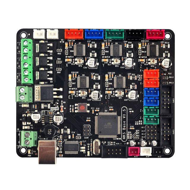 Mks base v1.5 placa de controle da impressora 3d com usb mega 2560 r3 motherboard reprap ramps1.4 compatível