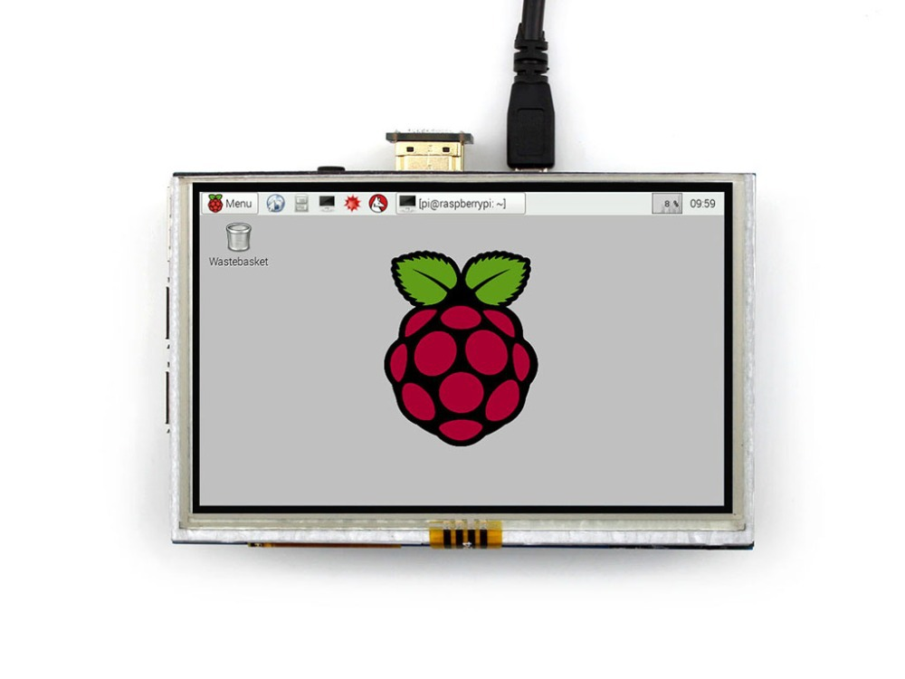 ФОТО module Waveshare RPi 5 inch HDMI Resistive LCD Display 800x480 Touch Screen Supports Any Revision of Raspberry Pi 3 B/2 B A/A+/B