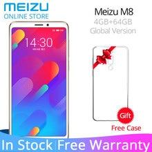 Orijinal Küresel Sürüm Meizu M8 V8 4 GB 64 GB ROM Cep Telefonu MTK Helio P22 Octa Çekirdek 5.7