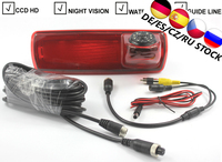 Car Brake Light Rear View Backup Camera For Opel Vauxhall Vivaro Renault Trafic Brake Light Parking Reverse CCD Camera IR Lights