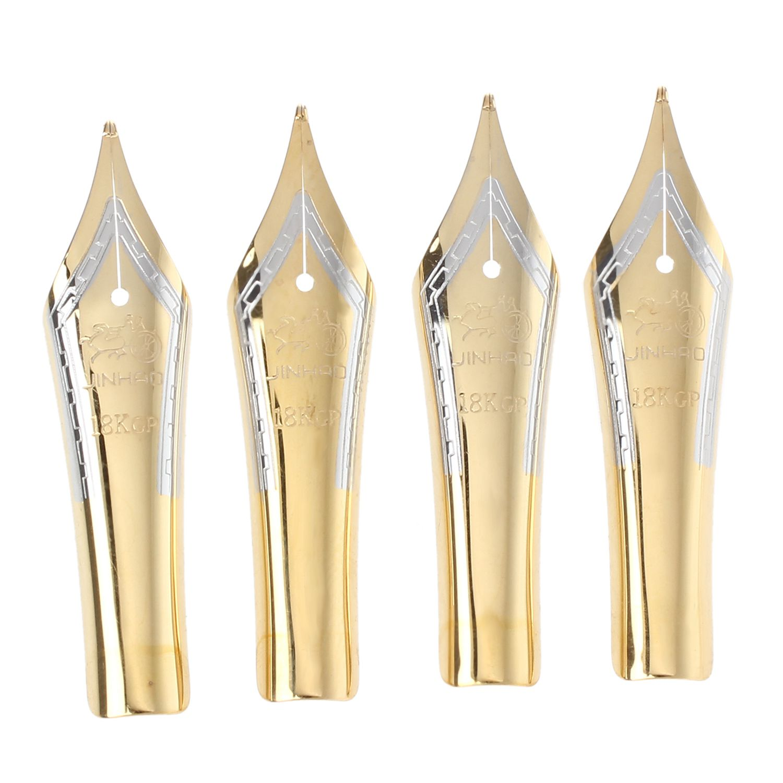 PPYY NEW -4Pcs/Lot Jinhao 159 450 599 750 baoer 388 Fountain pen Universal design large Pen nib Gold tip 0.5mm ppyy new tenfon g 3125 0 5mm pen pink