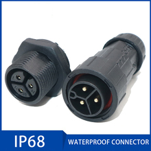 IP68 Waterproof Connector 2 3 4 5 6 7 8 Pin Electrical Terminal Adapter Wire Connector Screw Pin connector for LED Light