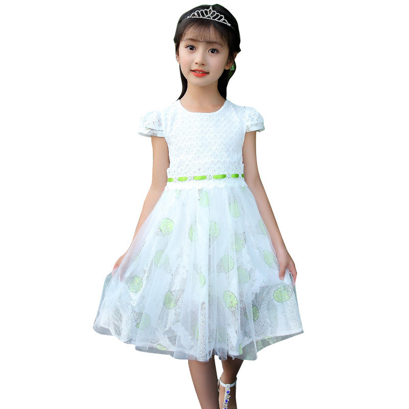 2018 New Arrival Girls ice Cream Print Pattern Wedding Dress Princess Icecream Dresses Girl Formal Party Costume Clothes Outfit