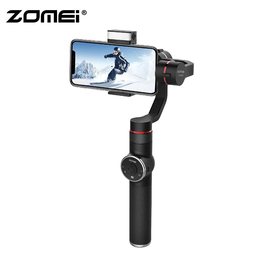 Zomei V5 Novo 3-Eixo Cardan Handheld Estabilizador Varas Selfie para SmartPhone iPhone X 8 Além de 7 6 SE samsung Galaxy S9 S8 S7 S6