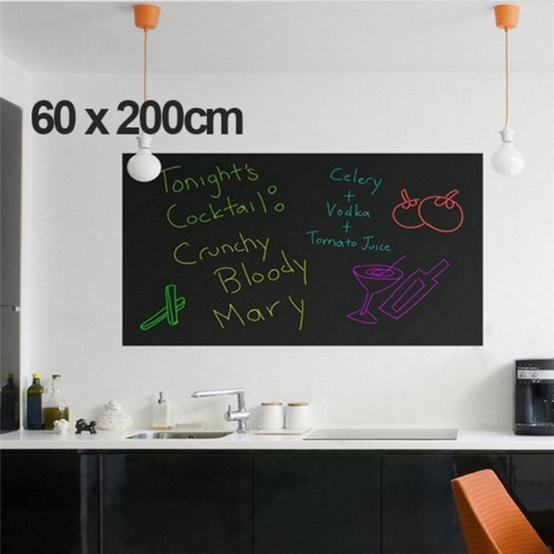 60*200cm Chalk Board Blackboard Stickers Removable Vinyl Draw Decor Mural Decals Art Chalkboard Wall Sticker For Kids Rooms