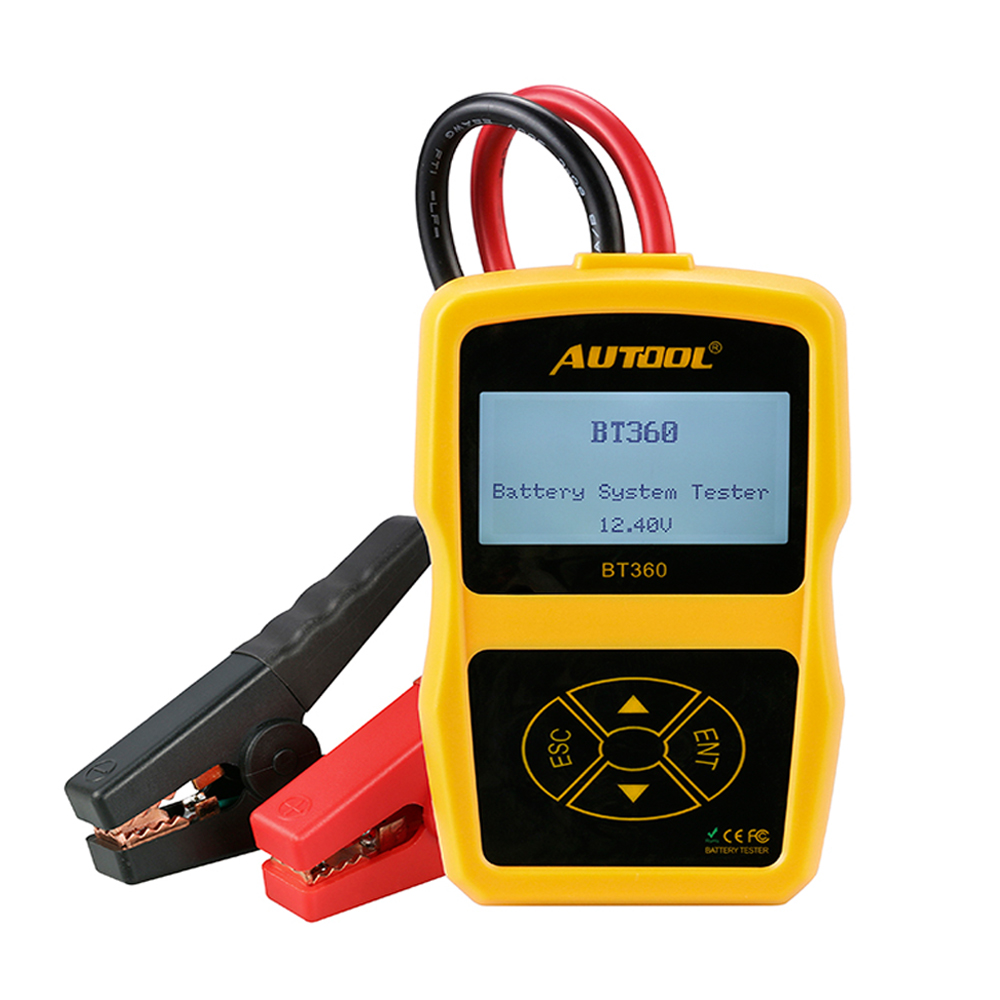 Car Battery Analyzer Tester AUTOOL BT360 12V Support 2000CCA For Vehicle Battery Cranking and Charging System Test