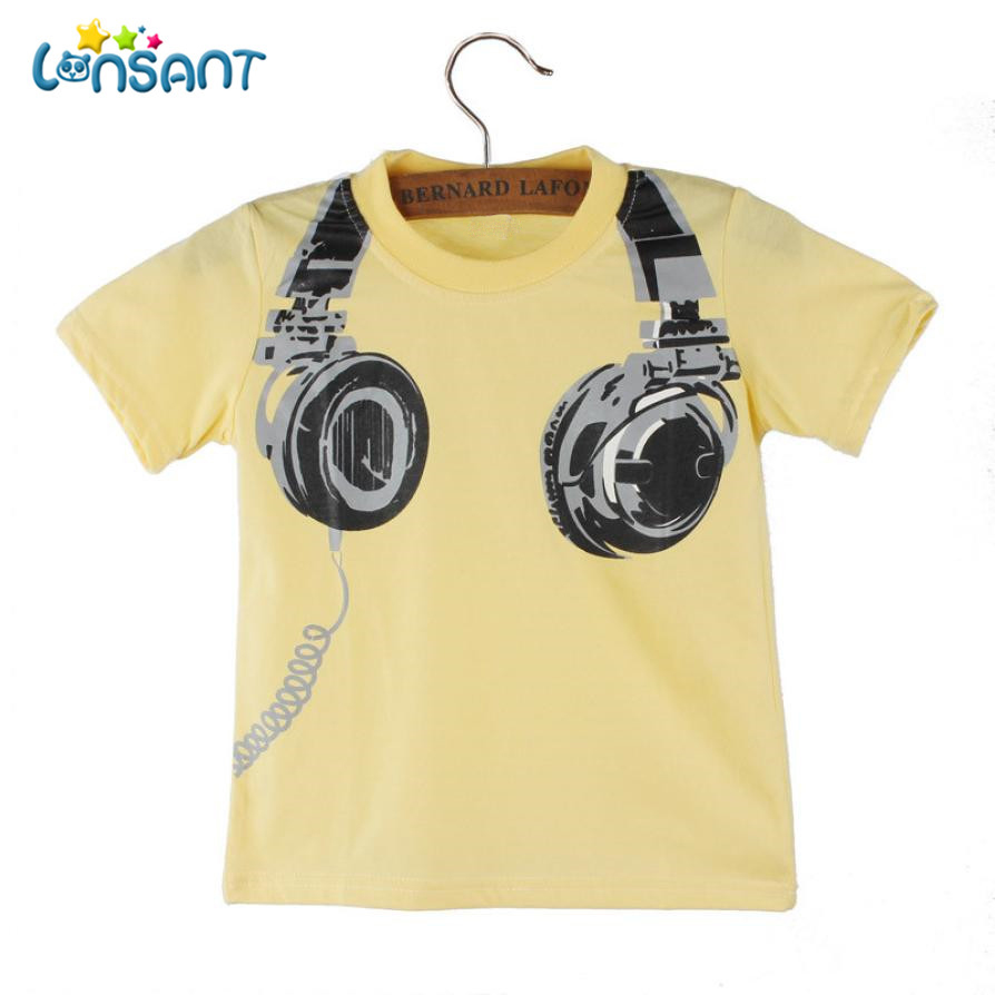 LONSANT High Quality Cotton Boy T-shirt 2017 Funny Baby Clothes Casual Short Sleeve Pasgeboren Baby Boy Kleding Dropshipping