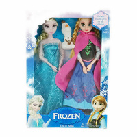 2015 Fashion Princess Elsa Anna Doll Snow Queen Children Kids Toys Birthday Christmas Gifts For Girl Sharon Dolls
