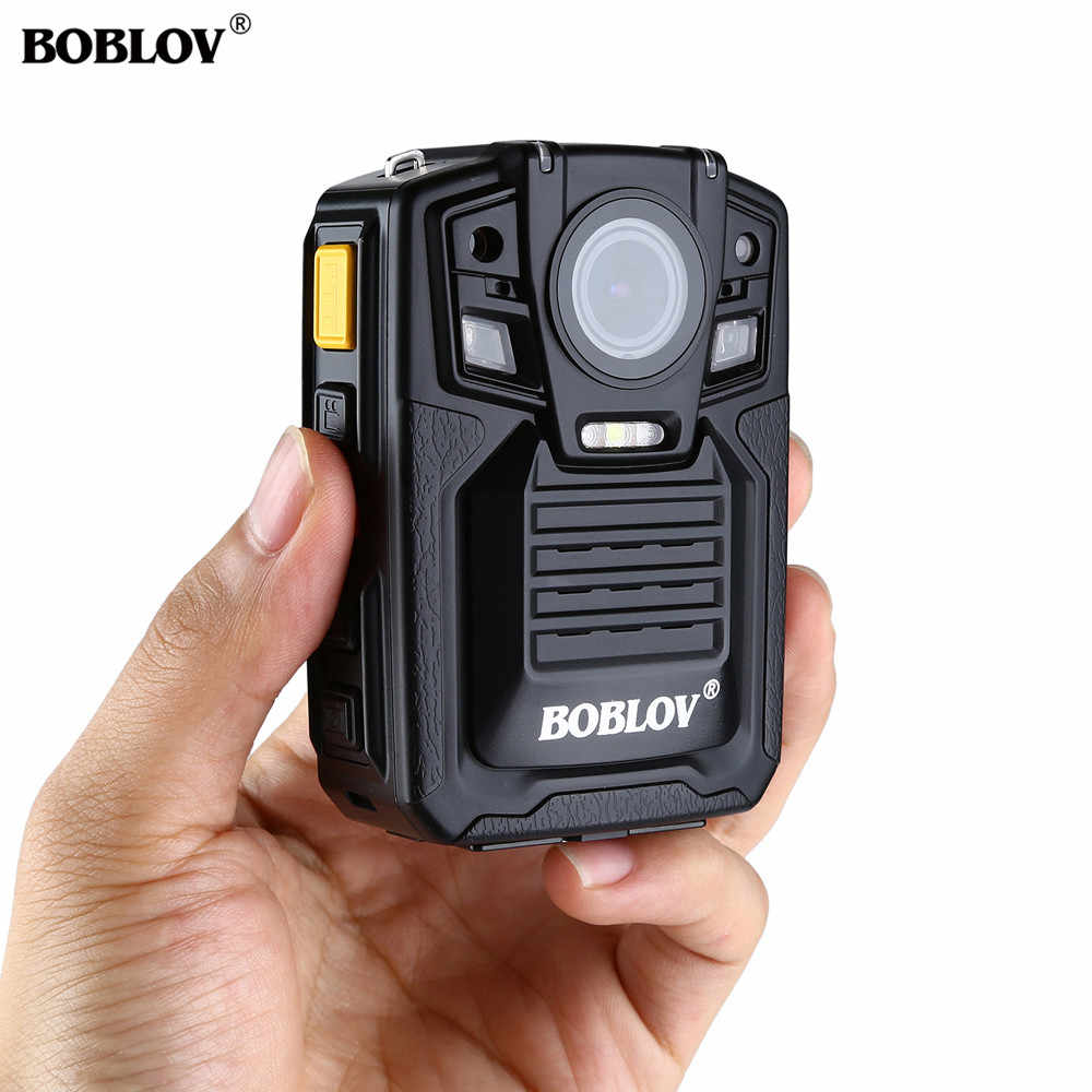 BOBLOV HD66-02 Police Camera 1296P 140 Degree Security Guard Recorder 32GB Ambarella A7L50 Police Body Worn Camera