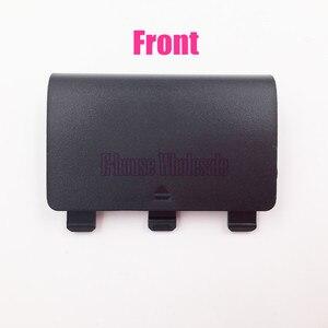 Image 2 - [20 teil/los] Hohe Qualität Schwarz Farbe Batterie Abdeckung Fall Batterie Pack Ersatz für Microsoft Xbox eine Reparatur