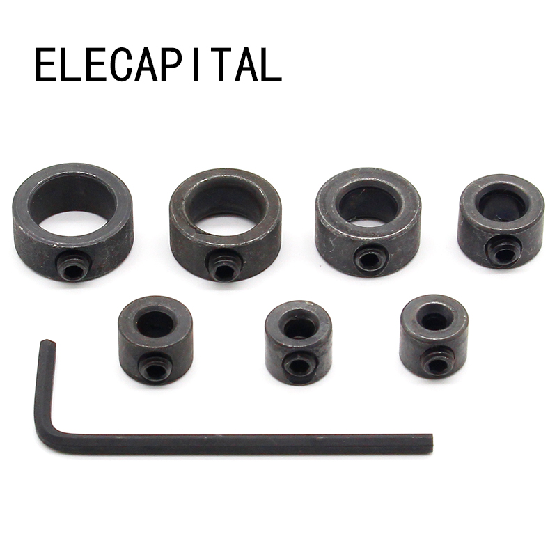 Hot Sell 7Pcs/Lot 3-12mm Drill Bit Depth Stop Collar Ring Positioner Spacing Ring Locator Woodworking Drill Bit Hex Wrench dental x ray complete film positioning system positioner holders locator