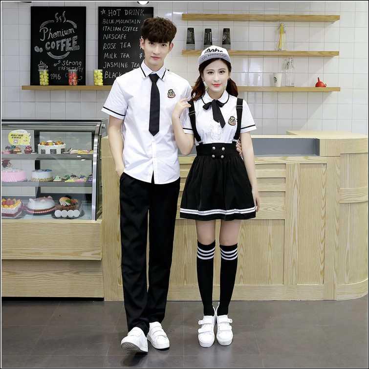 7fa677a899 ... Korean School Uniform Girls Jk Navy Sailor Suit For Women Japanese  School Uniform Cotton White shirt ...