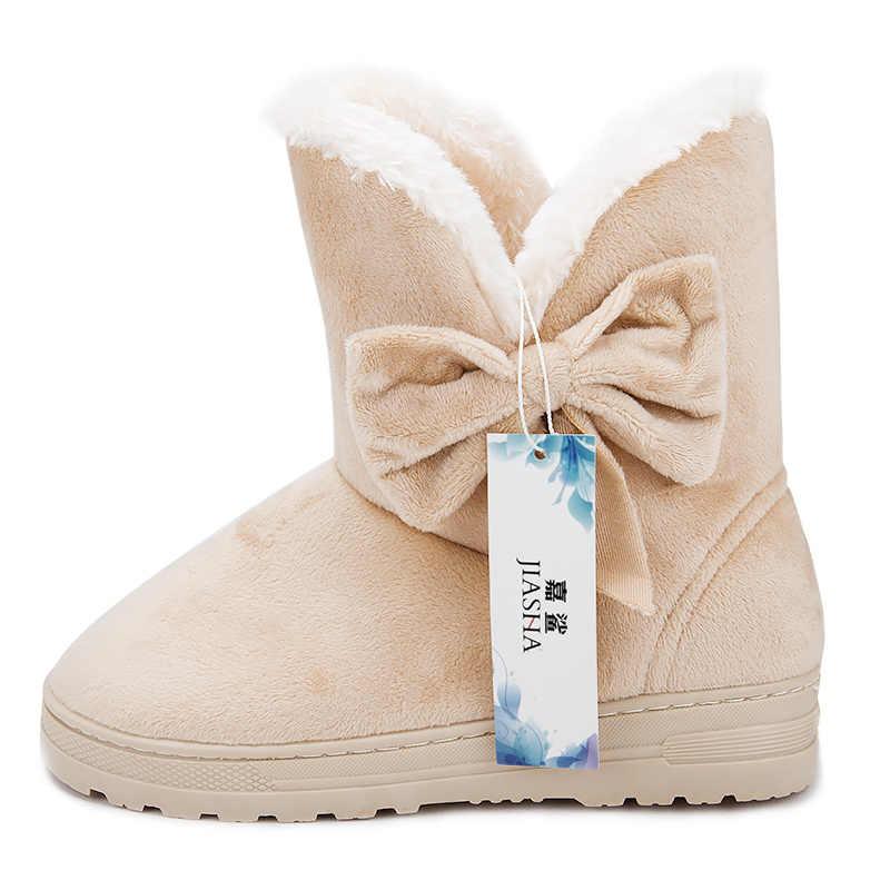 Kadın kış moda katı kar botları kadın yarım çizmeler ile kürk sıcak çizme kadın rahat ayakkabılar botas femininas 2018