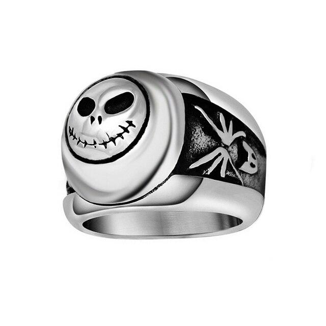 Jack Skellington Skull Rings Punk Men Jewelry Women Anillos Calavera