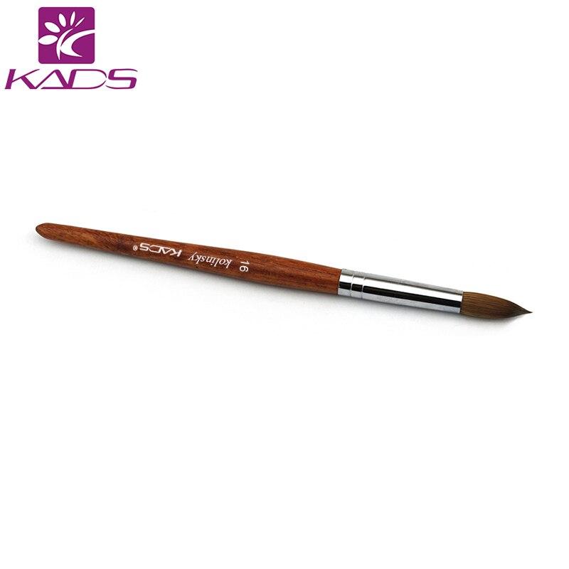 En gros 5 pièces 100% Kolinsky Sable 16 # stylo rouge bois acrylique brosse pour nail art Nail Art manucure outil acrylique ongles brosses