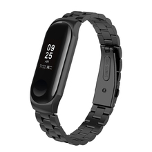 Mi band 4 Metal Strap for Xiaomi Band Bracelet Screwless MiBand4 Xiomi MiBand Wrist Steel black