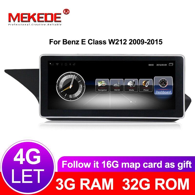 4G lte Estéreo Rádio Do Carro Jogador de Navegação GPS Para Mercedes Benz MB Classe E W212 2009 ~ 2015 Original sistema do carro 3G RAM 32G ROM