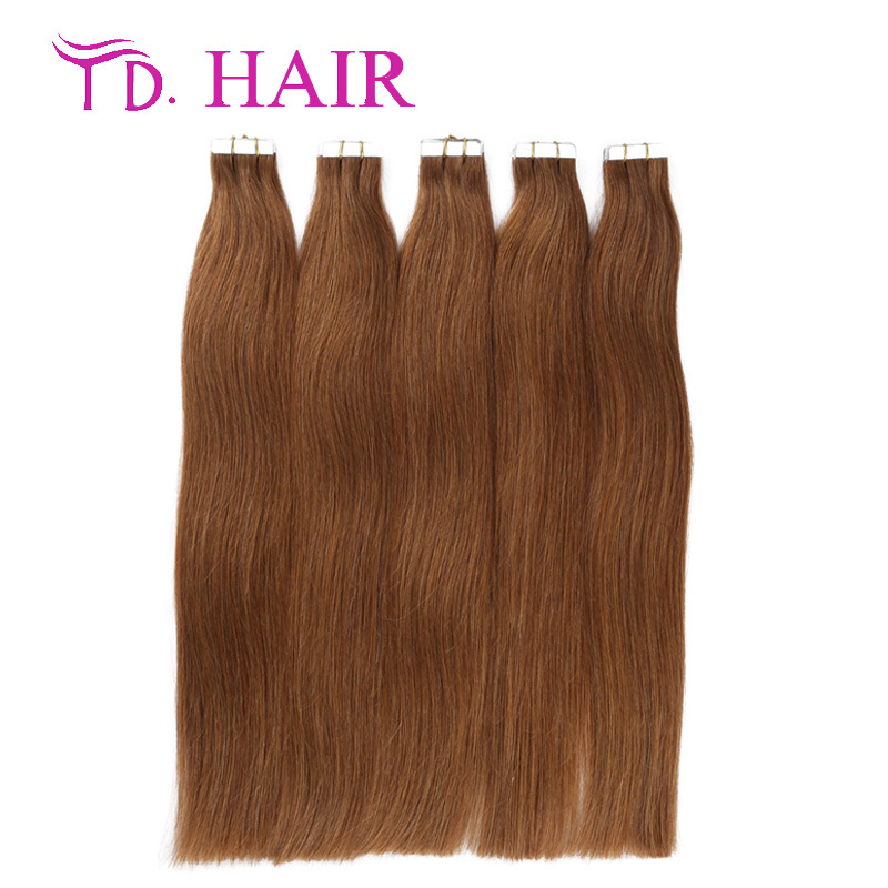 #8 Grade 7a double side tape hair extension 14-26inch tape in huamn hair extensions brazilian straight virgin hair on sale