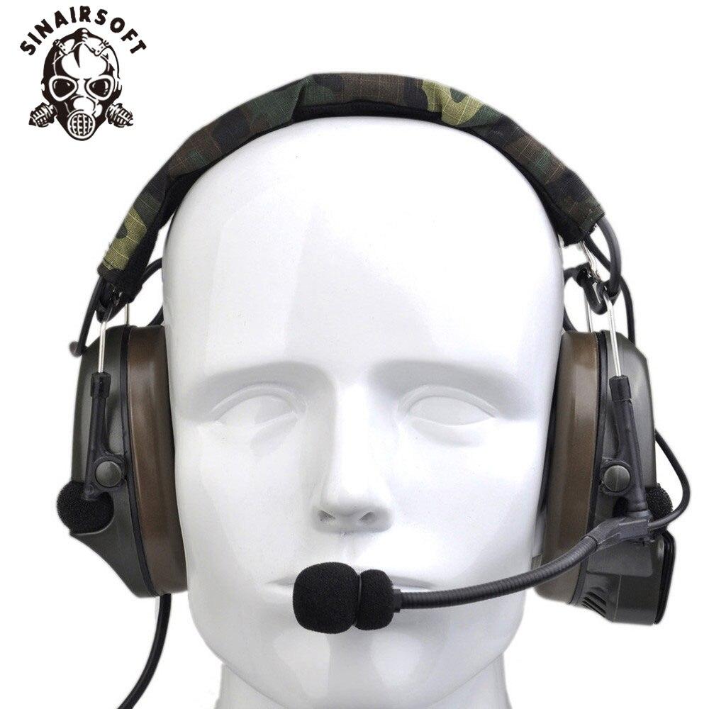 все цены на SINAIRSOFT Airsoft Comtac Z054 zComtac I Headset Style Tactical Headset OD Helmet Noise Canceling Headphone онлайн